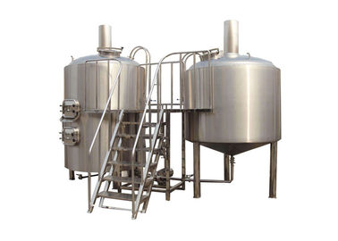 7BBL Capacity Small Brewery Equipment TIG Welded Joints Interior Shell 3mm Thickness