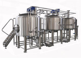 Semi Auto / Manual Control 15BBL Large Beer Brewing Equipment Electric Heating