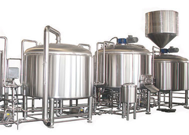 PLC Control 2000L Large Beer Brewing Equipment Stainless Steel SUS304 Steam Heating