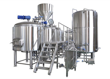 Semi - Auto Control Large Brewing Equipment 10BBL With Steam / Gas Heating