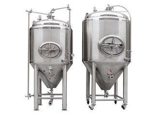 Silver Stainless Steel 304 / 316L Conical Beer Fermenter With 1000l Capacity